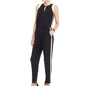 The Limited stripe Jumpsuit Black w/white stripe